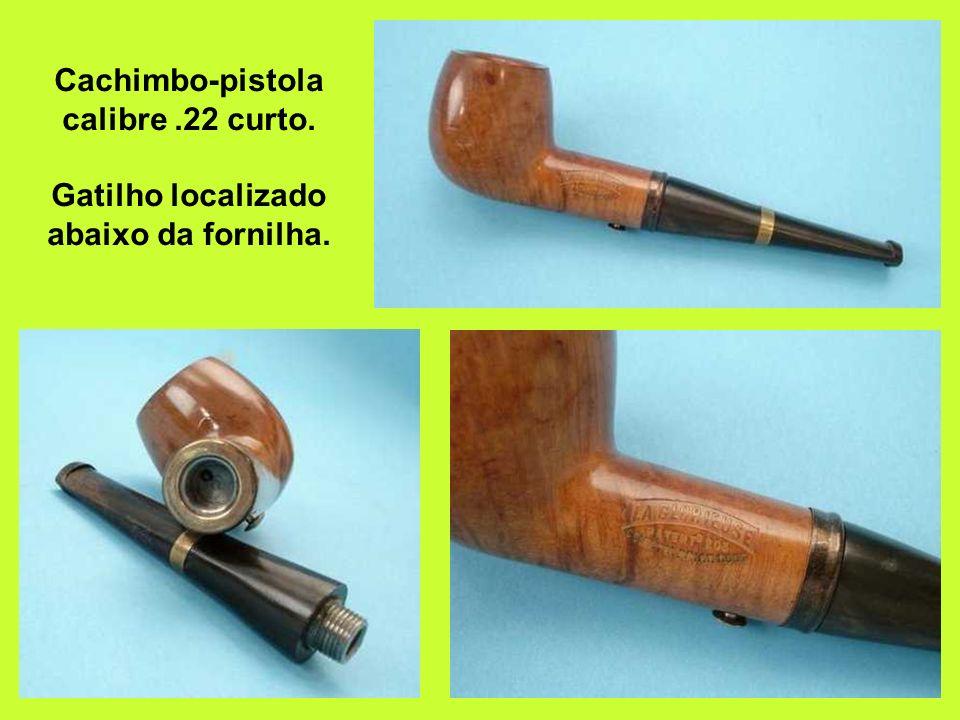 Cachimbo-pistola calibre. 22 curto