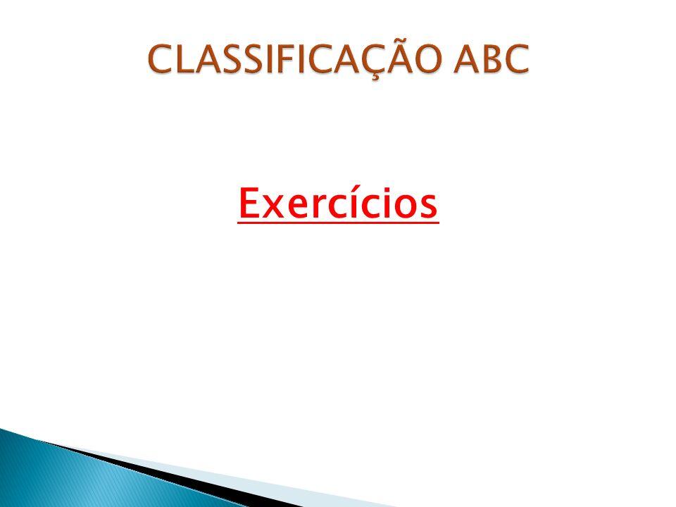 CLASSIFICAÇÃO ABC Exercícios