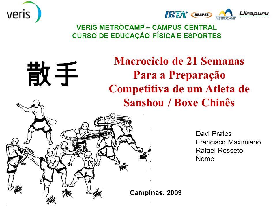 VERIS METROCAMP – CAMPUS CENTRAL CURSO DE EDUCAÇÃO FÍSICA E ESPORTES