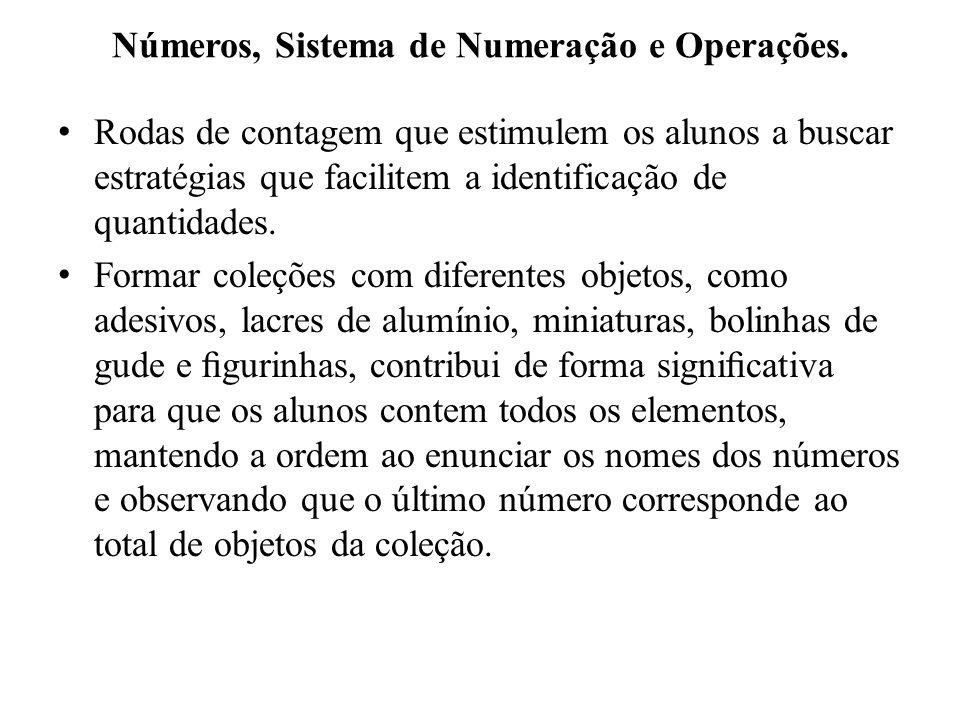Números, Sistema de Numeração e Operações.
