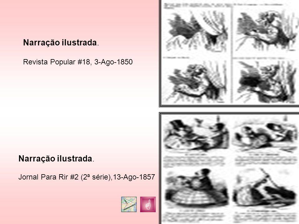 Narração ilustrada. Jornal Para Rir #2 (2ª série),13-Ago-1857