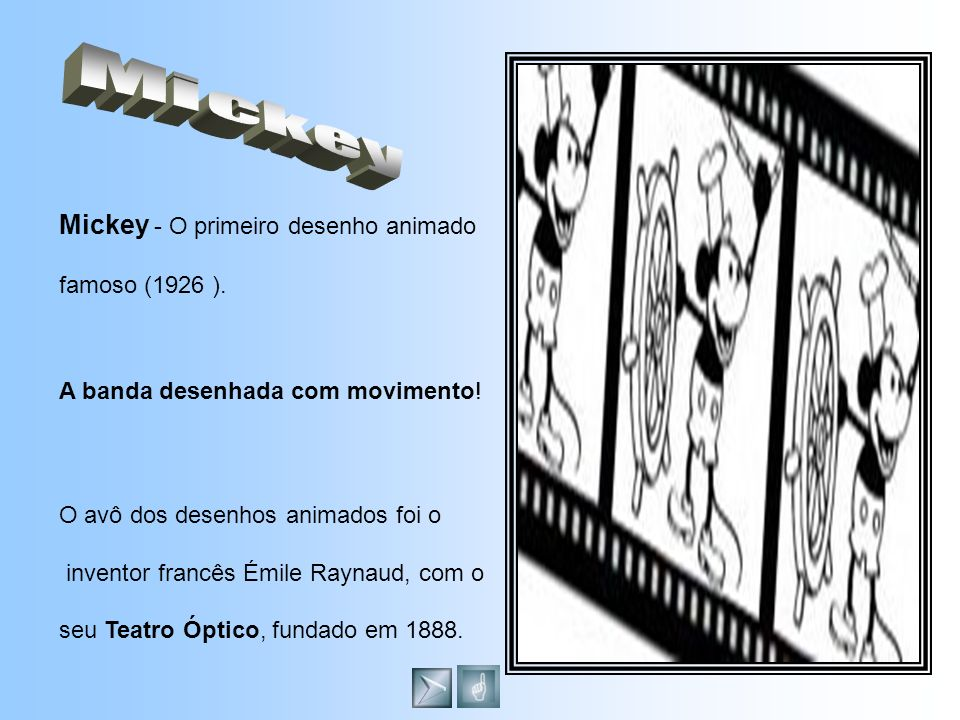 Mickey - O primeiro desenho animado