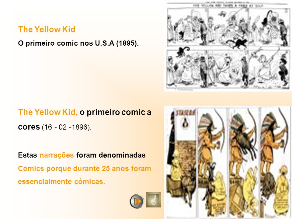 The Yellow Kid O primeiro comic nos U.S.A (1895).