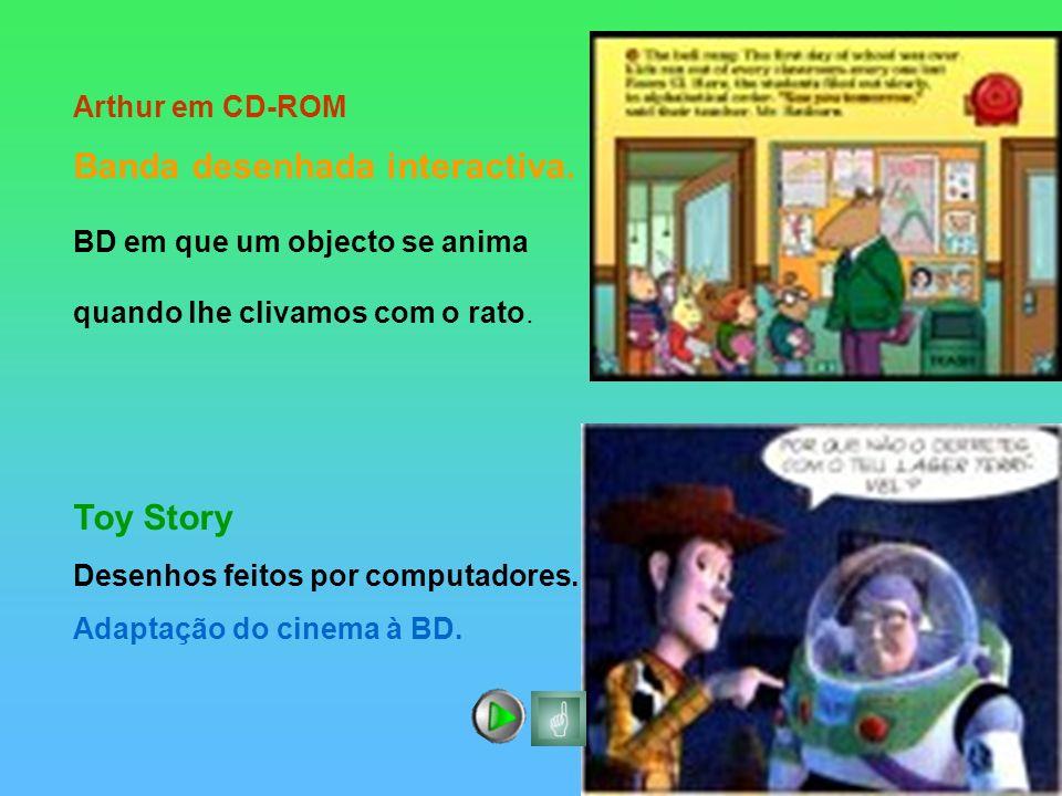 Toy Story Arthur em CD-ROM Banda desenhada interactiva.