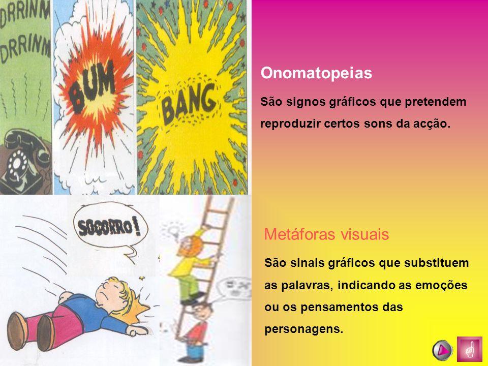 Onomatopeias Metáforas visuais