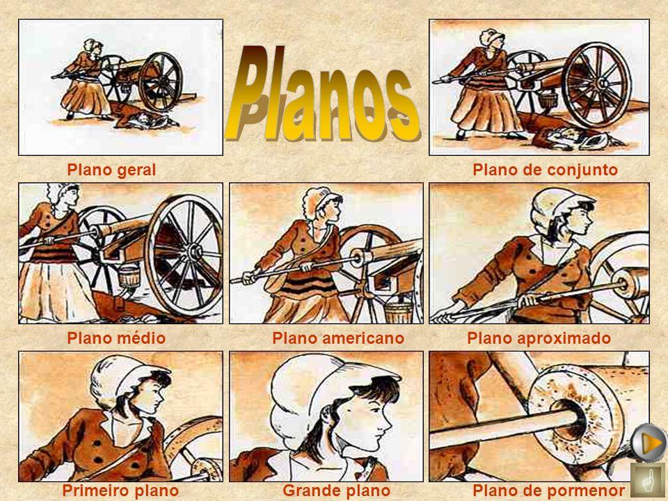 Planos Plano geral Plano de conjunto Plano médio Plano americano