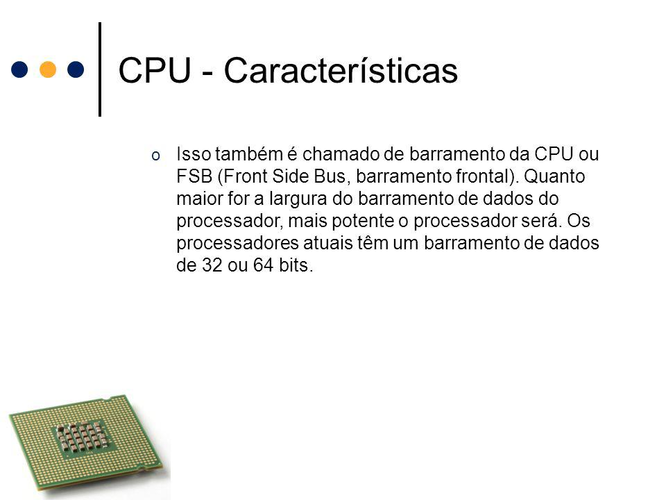 CPU - Características