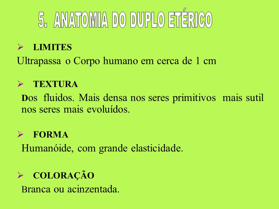 5. ANATOMIA DO DUPLO ETÉRICO
