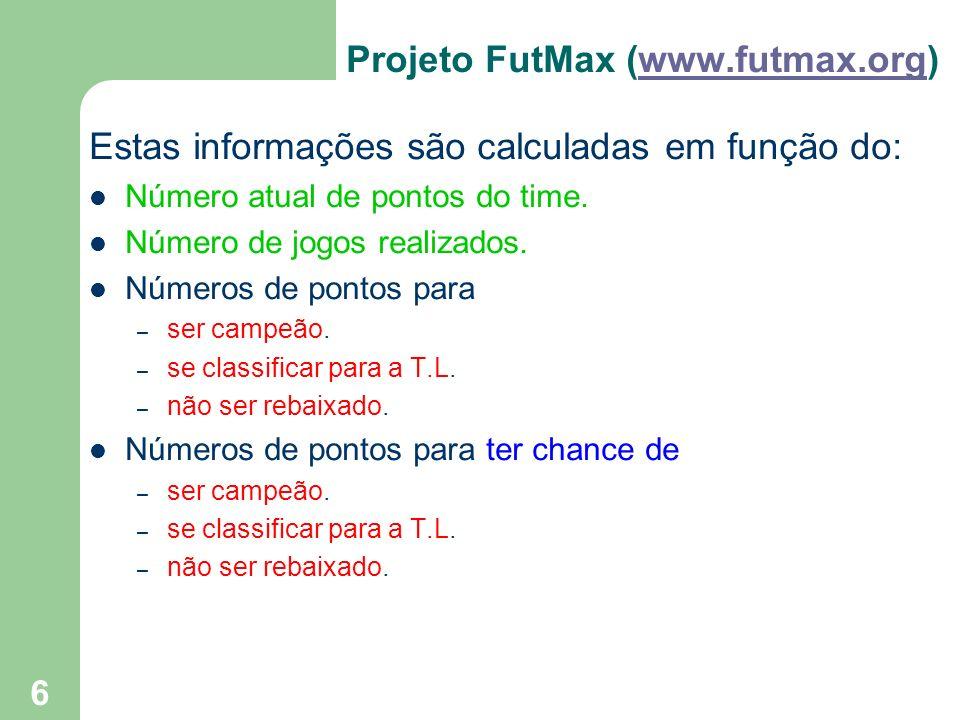 Projeto FutMax (www.futmax.org)