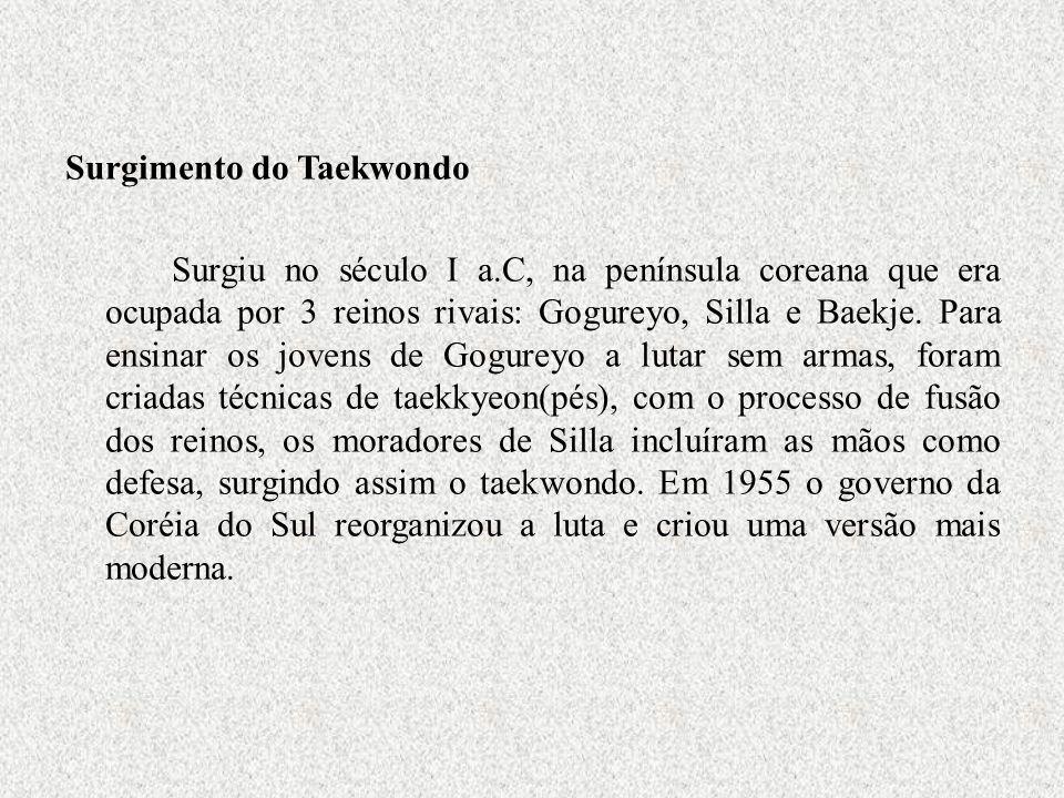 Surgimento do Taekwondo Surgiu no século I a