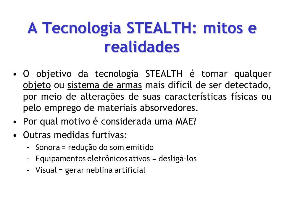 A Tecnologia STEALTH: mitos e realidades