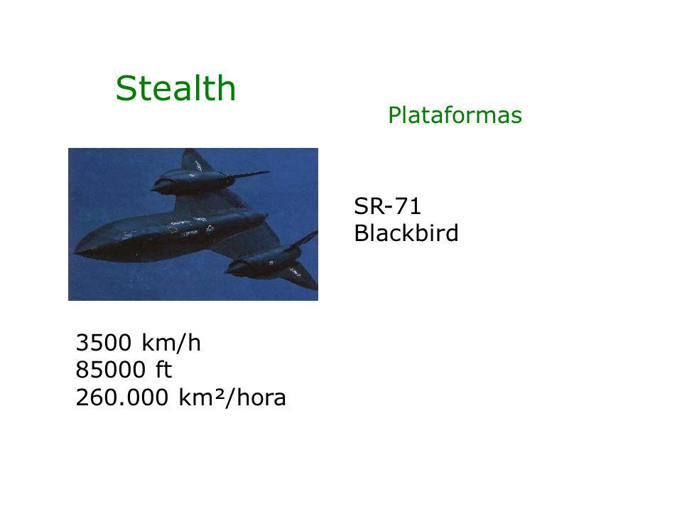 Stealth Plataformas SR-71 Blackbird 3500 km/h 85000 ft