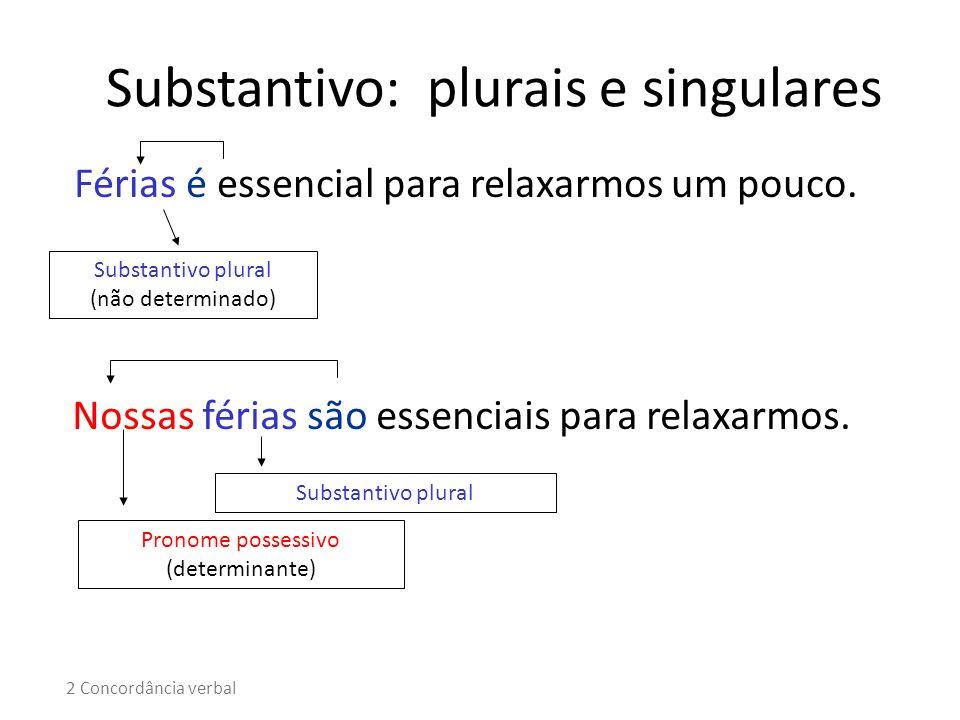 Substantivo: plurais e singulares