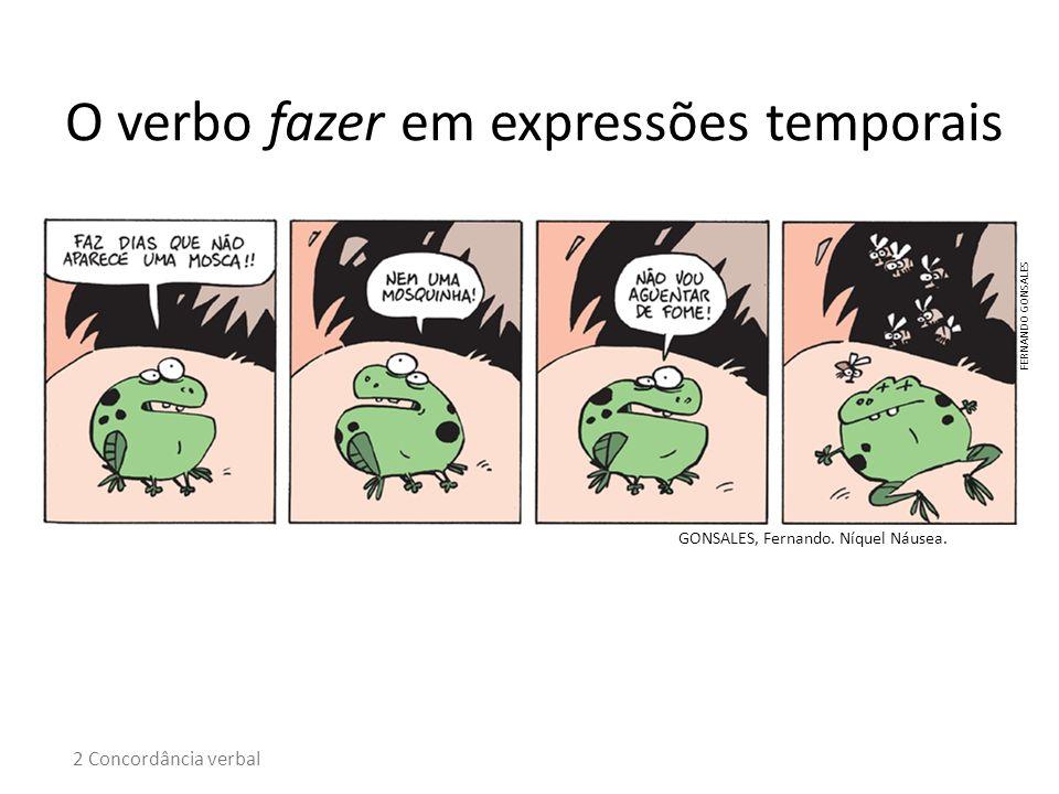 O verbo fazer em expressões temporais