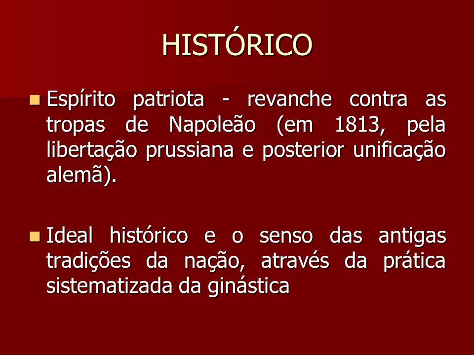 HISTÓRICO Espírito patriota - revanche contra as tropas de Napoleão (em 1813, pela libertação prussiana e posterior unificação alemã).