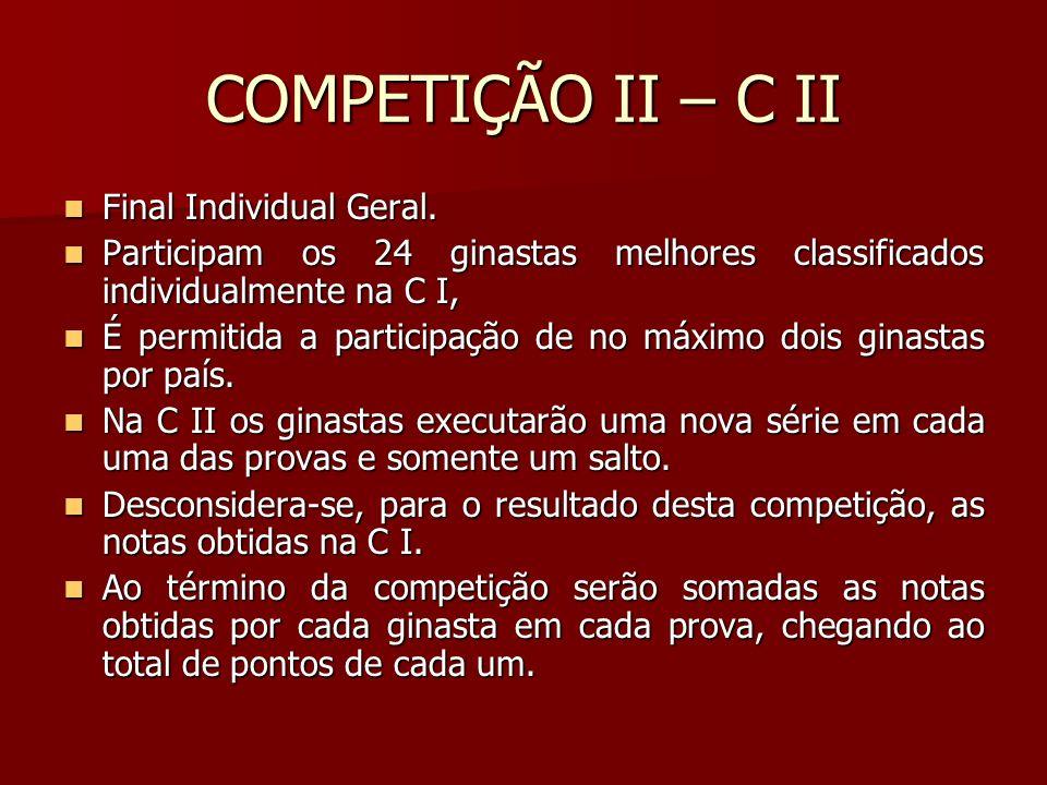 COMPETIÇÃO II – C II Final Individual Geral.