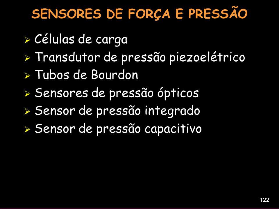 SENSORES DE FORÇA E PRESSÃO