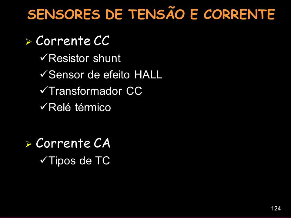 SENSORES DE TENSÃO E CORRENTE