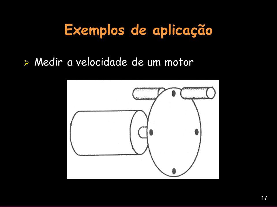 Exemplos de aplicação Medir a velocidade de um motor