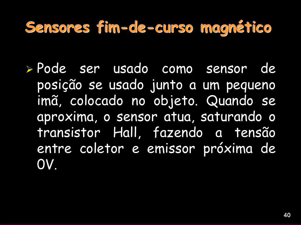 Sensores fim-de-curso magnético