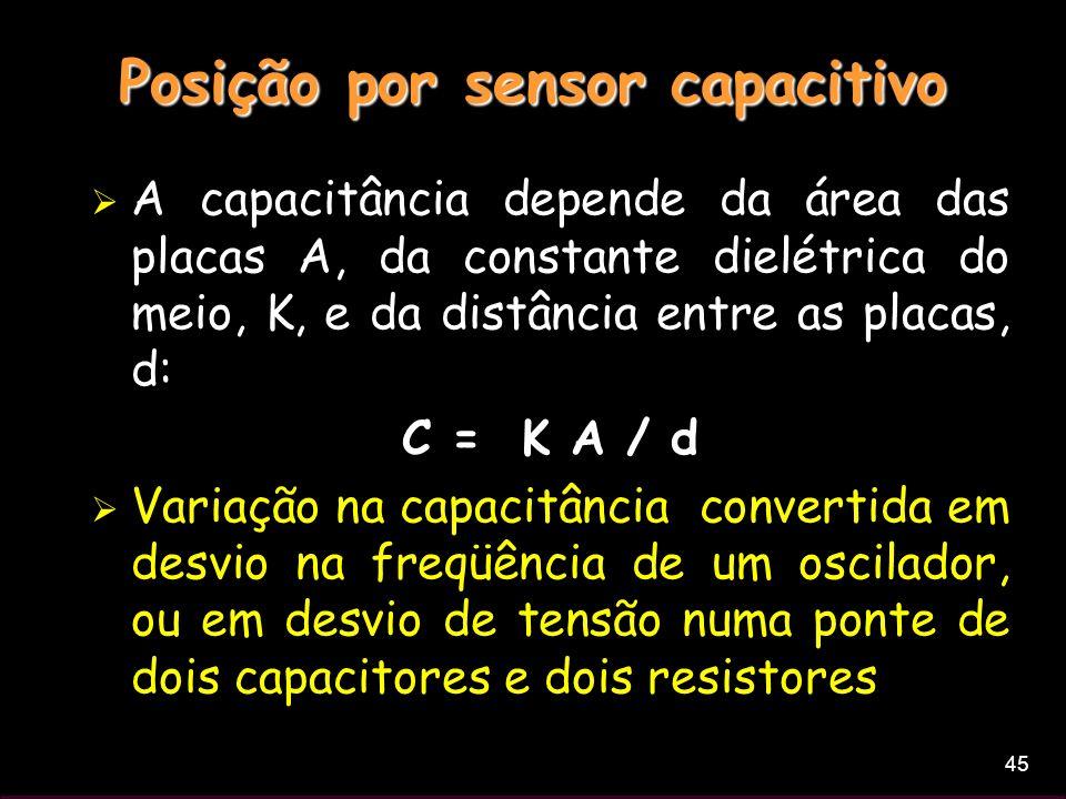 Posição por sensor capacitivo
