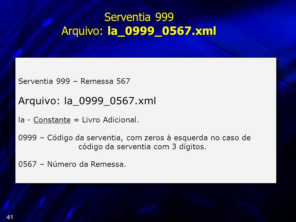 Serventia 999 Arquivo: la_0999_0567.xml