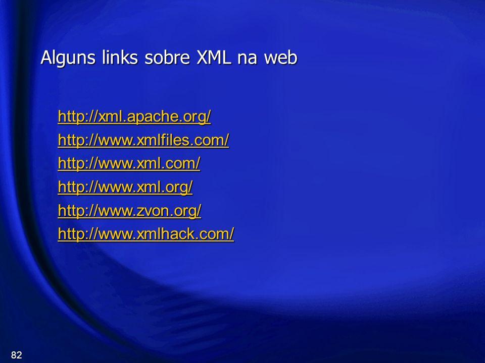 Alguns links sobre XML na web