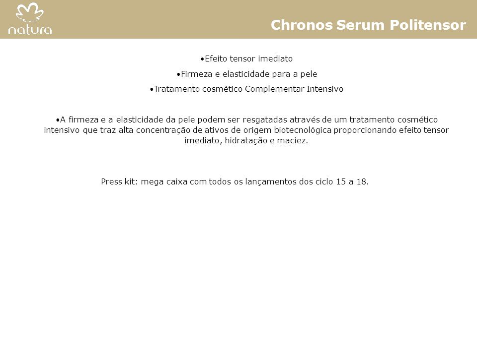 Chronos Serum Politensor