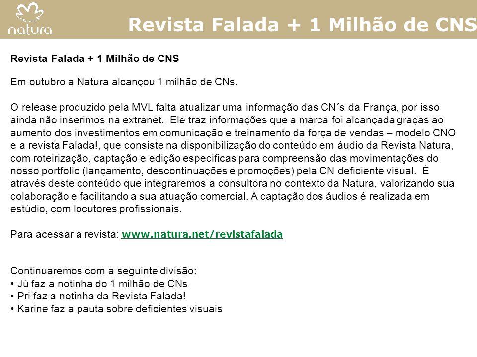 Revista Falada + 1 Milhão de CNS
