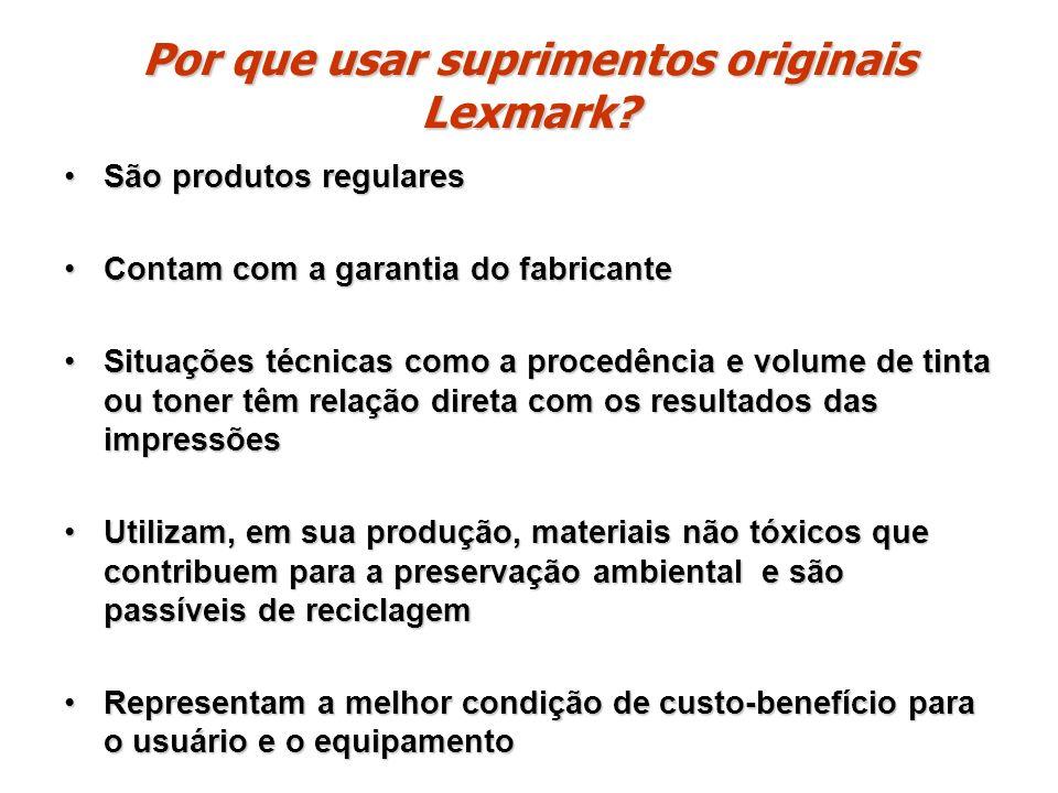 Por que usar suprimentos originais Lexmark
