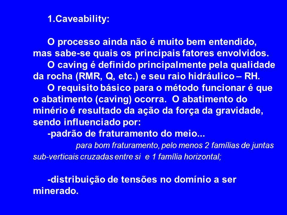 1.Caveability: O processo ainda não é muito bem entendido, mas sabe-se quais os principais fatores envolvidos.