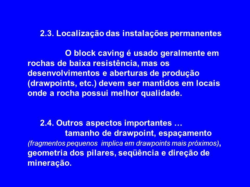 2.3. Localização das instalações permanentes