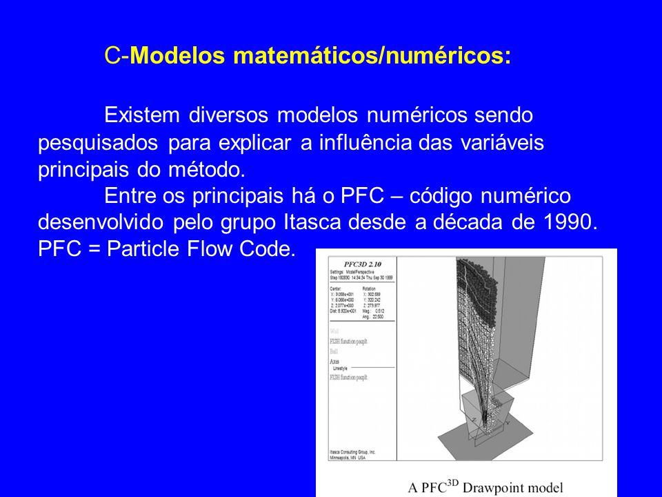C-Modelos matemáticos/numéricos: