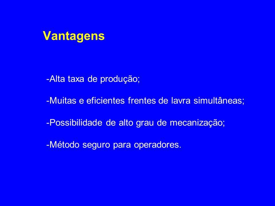 Vantagens -Alta taxa de produção;