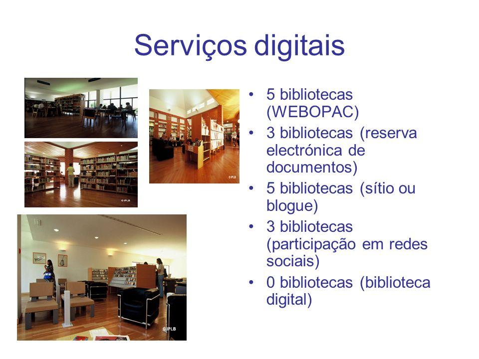 Serviços digitais 5 bibliotecas (WEBOPAC)