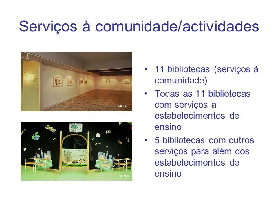 Serviços à comunidade/actividades