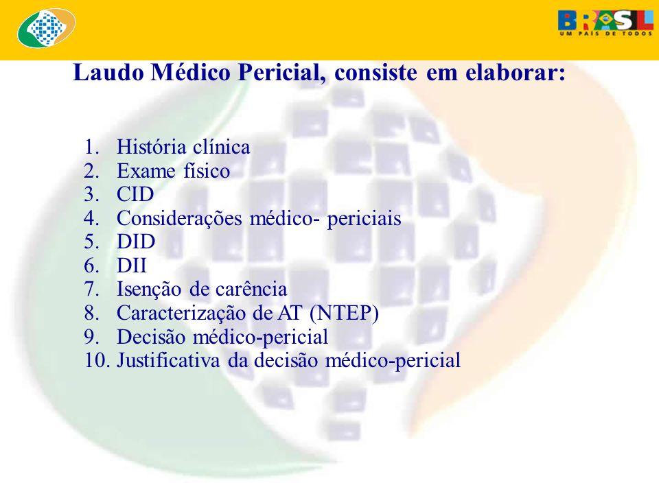 Laudo Médico Pericial, consiste em elaborar: