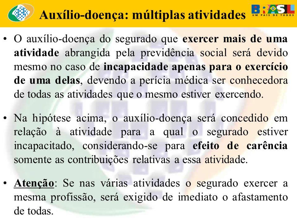 Auxílio-doença: múltiplas atividades