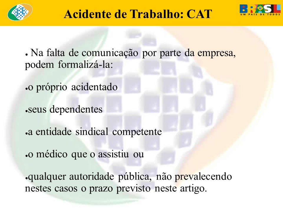 Acidente de Trabalho: CAT