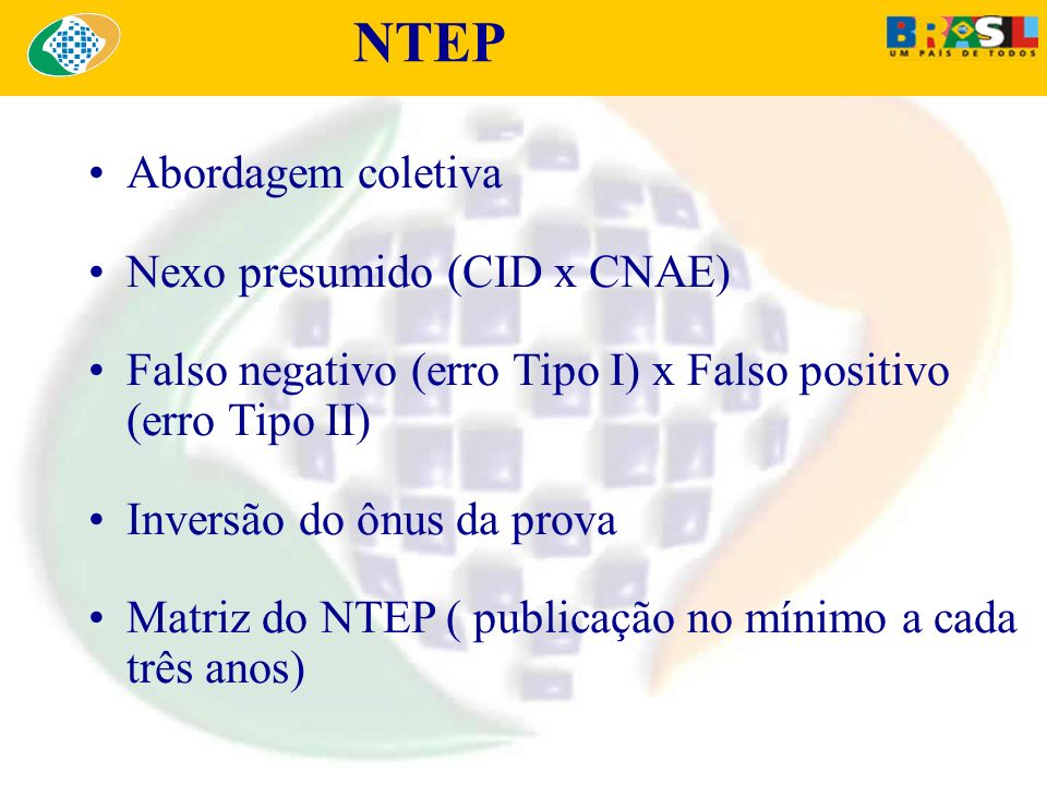 NTEP Abordagem coletiva Nexo presumido (CID x CNAE)