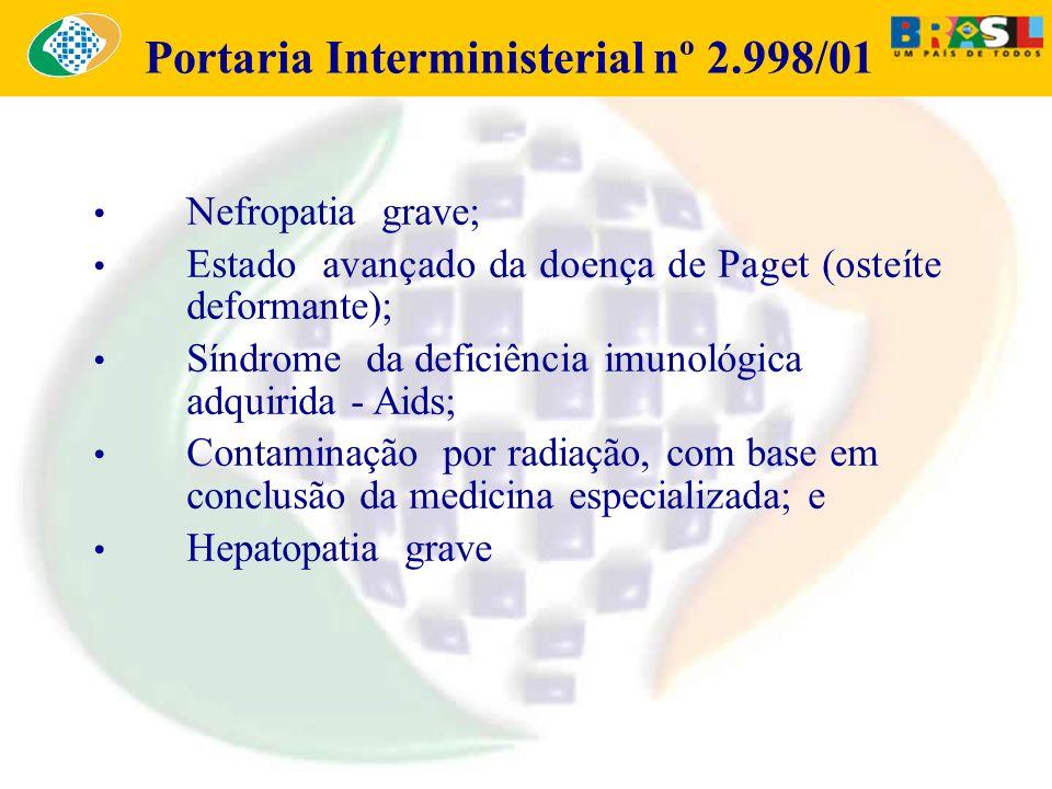 Portaria Interministerial nº 2.998/01
