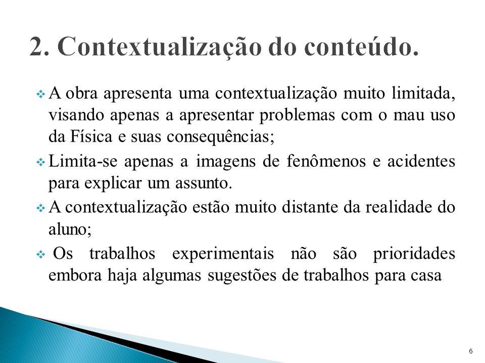 2. Contextualização do conteúdo.