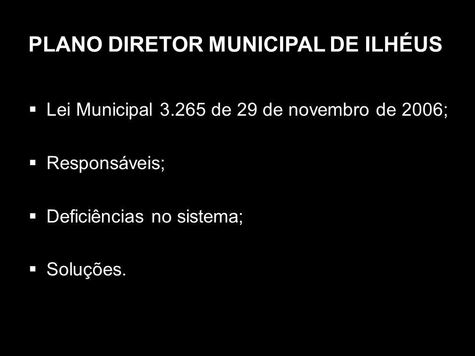 PLANO DIRETOR MUNICIPAL DE ILHÉUS