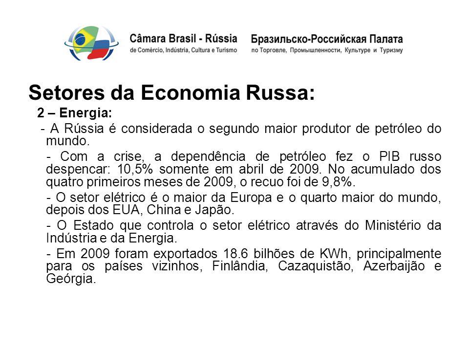 Setores da Economia Russa: