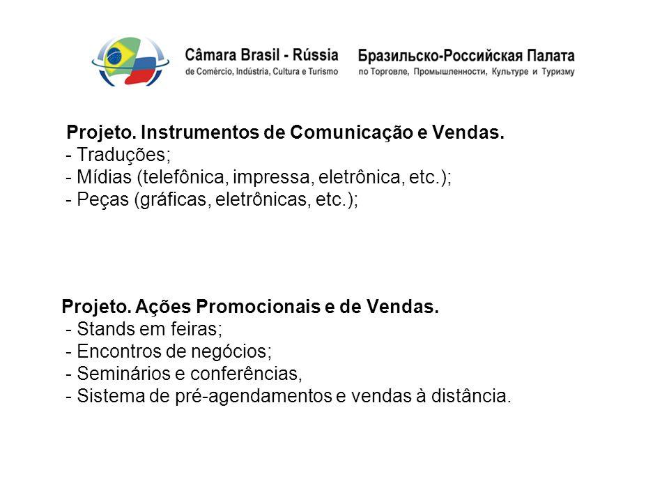 Projeto. Instrumentos de Comunicação e Vendas
