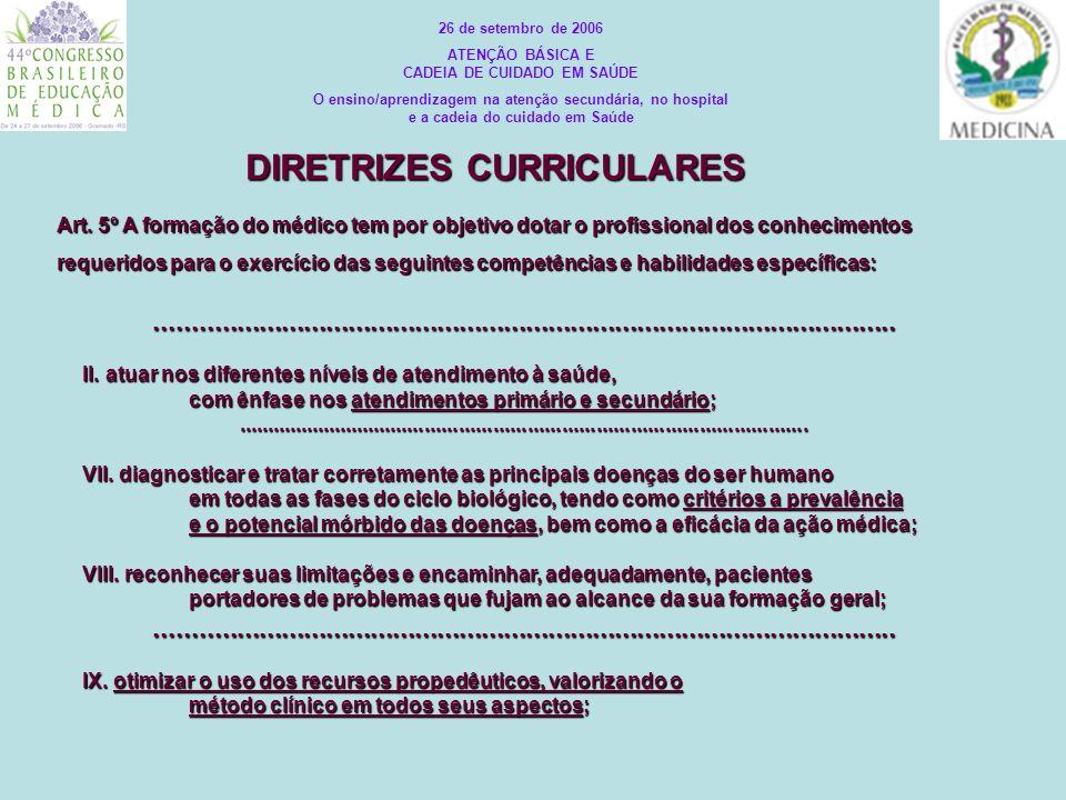 ATENÇÃO BÁSICA E CADEIA DE CUIDADO EM SAÚDE DIRETRIZES CURRICULARES
