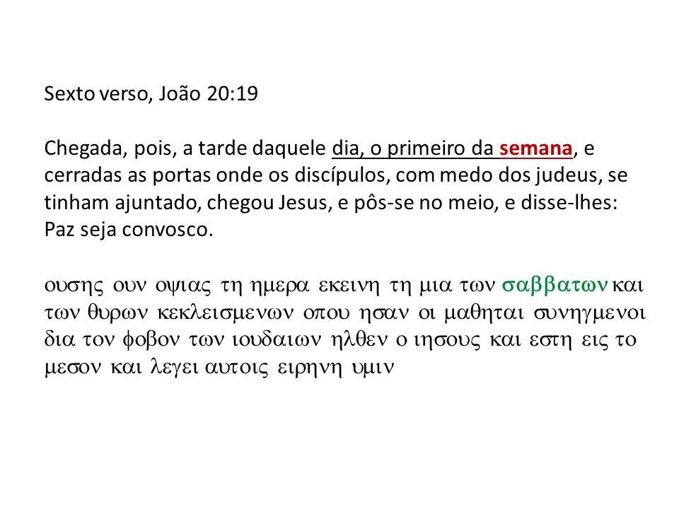 Sexto verso, João 20:19