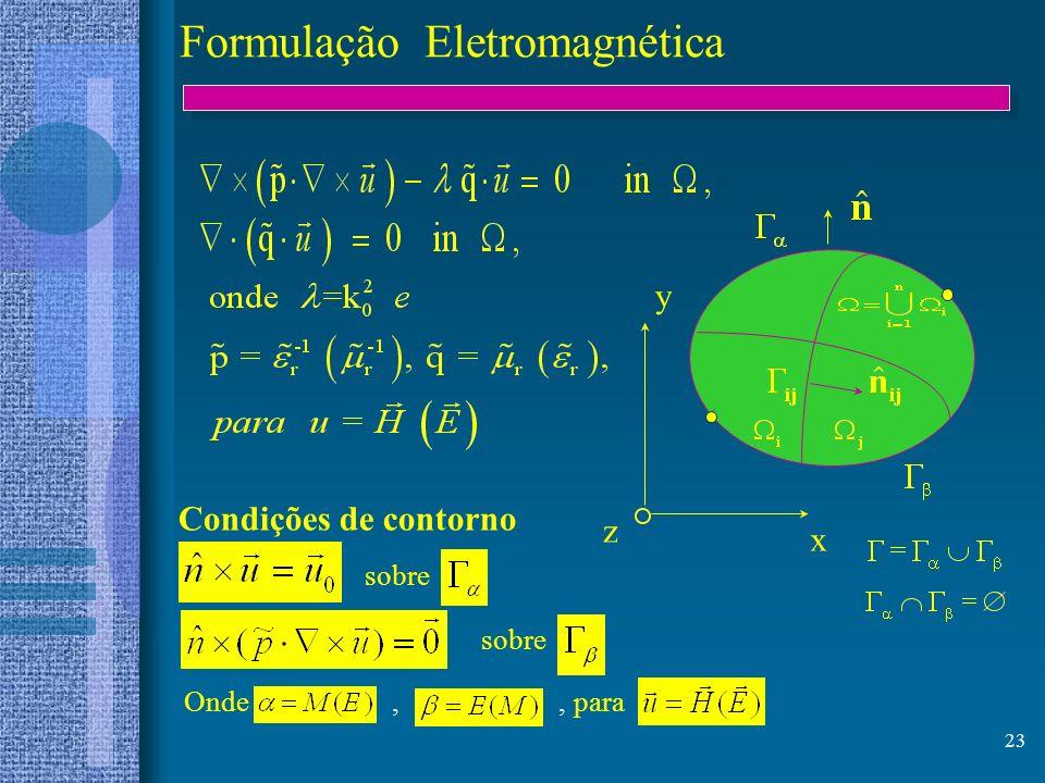 Formulação Eletromagnética