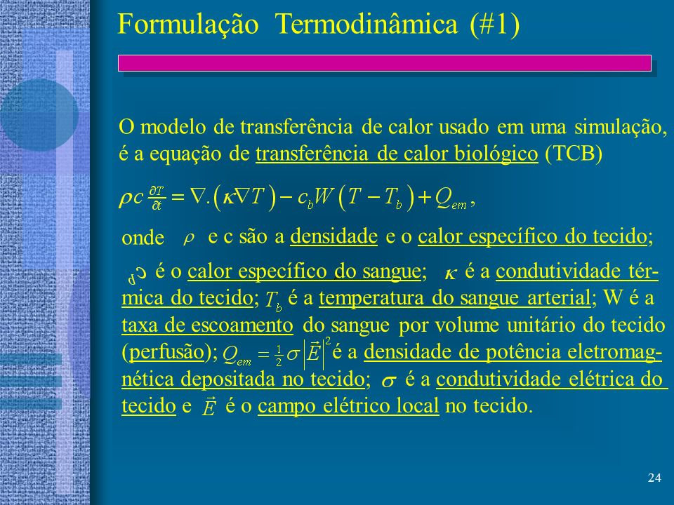 Formulação Termodinâmica (#1)