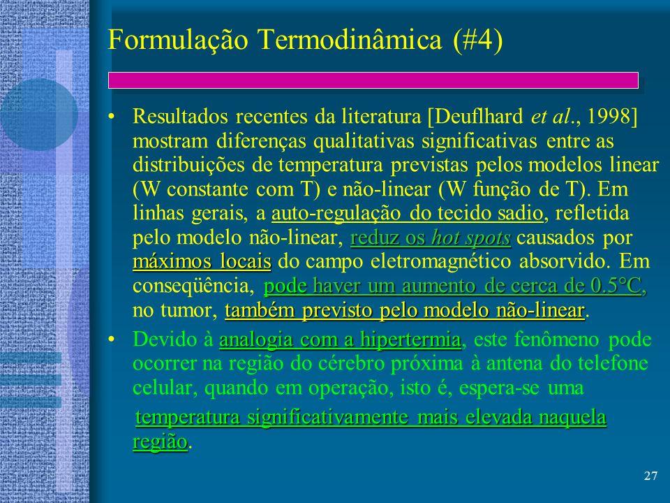 Formulação Termodinâmica (#4)
